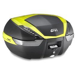 Kufer Givi V47NNTFL (czarny, 47 litrów, szare odblaski, pokrywa karbonowa, dodatki żółte) (bagażnik motocyklowy)