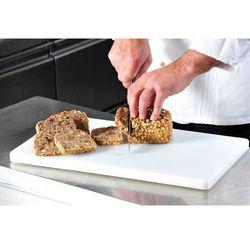Deska do krojenia w kolorze białym zgodna z wymogami HACCP, plastikowa deska do krojenia, deska kuchenna, deska do serwowania, akcesoria kuchenne, Kesper