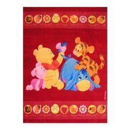 Thk Czerwony dywan baby 100x150 kubuś puchatek akrylowy / gwarancja 24m / najtańsza wysyłka!