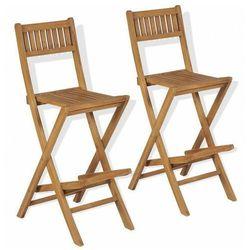 Zestaw drewnianych krzeseł ogrodowych - Connie