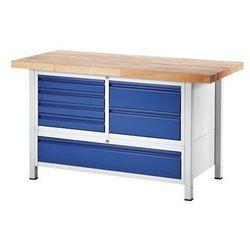 Stół warsztatowy, stabilny,6 szuflad w rozmiarze L, 1 szuflada w rozmiarze XXL