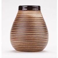Matero ceramiczne Calabaza brązowe w prążki