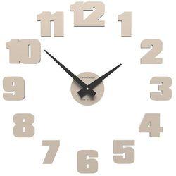 Zegar ścienny raffaello mały  piaskowy marki Calleadesign