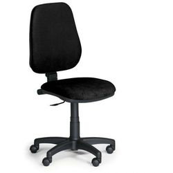 Krzesło biurowe comfort pk, bez podłokietników - czarny marki B2b partner