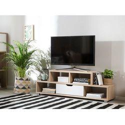 Szafka RTV jasne drewno/biały CAMPANA (4260624118208)