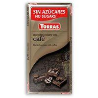 Czekolada gorzka z kawą, bez cukru, bezglutenowa 75g