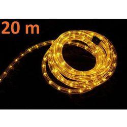 Wąż świetlny ogrodowy 20 m żółty - 720 mini żarówek