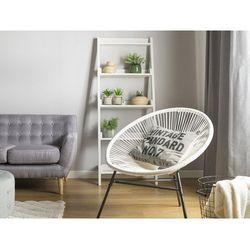 Beliani Zestaw 2 krzeseł ogrodowych białe acapulco