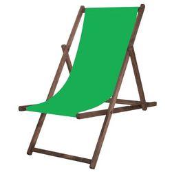 Leżak drewniany impregnowany z materiałem zielonym