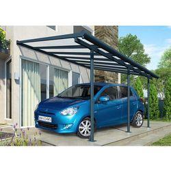 Palram Aluminiowa wiata samochodowa sierra 3 x 4,25 m szara - transport gratis!