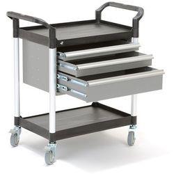 Aj produkty Wózek warsztatowy move, 2 półki, 3 szuflady, 850x480x950 mm