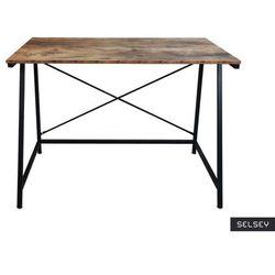 Selsey biurko ramizu na czarnej podstawie