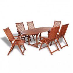 Producent: elior Zestaw drewnianych mebli ogrodowych linder 2x - brązowy
