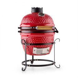 """Klarstein princesize grill kamado grill ceramiczny 11"""" wędzarnia bbq slowcooking czerwony"""
