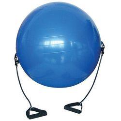 Piłka gimnastyczna z gumowymi ekspanderami 650 mm