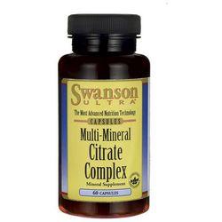 Swanson Multi Mineral Citrate Complex Wapń Potas Magnez Cynk 60 kaps., produkt z kategorii- Witaminy i minera