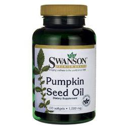 Swanson, usa Swanson pumpkin seed oil olej z pestek dyni 1000mg 100 kaps.