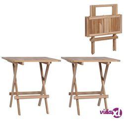 Vidaxl składane stoliki bistro 2 szt., 60x60x65 cm, lite drewno tekowe (8719883695426)