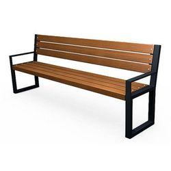 Stalowa ławka parkowa z oparciem valkiria 4v marki Producent: elior