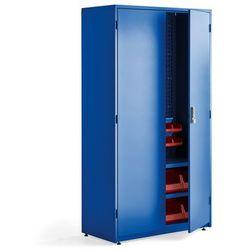 Kompletna szafa narzędziowa z zamkiem elektronicznym, 1900x1020x500 mm, niebieski