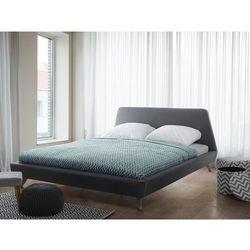 Łóżko szare - tapicerowane - ze stelażem - 160x200 cm - vienne marki Beliani
