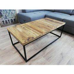 Stolik prostokątny industrialny czarny stilo3 stare drewno szczotkowane marki Reqube