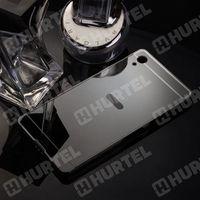 Aluminiowe etui lusterko Metal Mirror Bumper Sony Xperia Z2 D6502 czarne - Czarny z kategorii Futerały i pokr