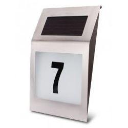 Lampa LED solarna AKUMULATOROWA lokatorska z numerem budynku