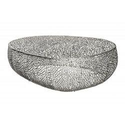 Invicta stolik kawowy leaf 120cm srebrny - metal marki Sofa.pl