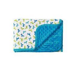 Koc bawełniany dwustronny bąbelki 75x100 BabyOno (niebieski)
