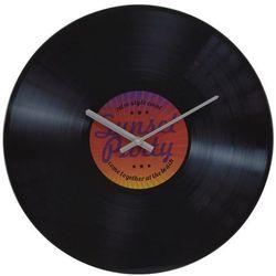 Zegar ścienny szklany Gramofon, czerwony