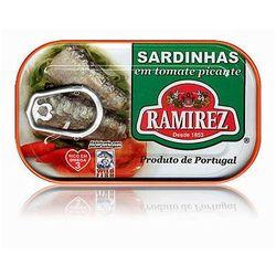 Sardynki portugalskie pikantne w pomidorach Ramirez 125g z kategorii Konserwy i przetwory rybne