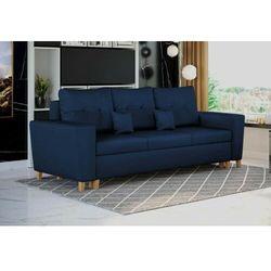 Nowoczesna sofa do salonu z pojemnikiem - elio - tkanina velutto marki Meblemwm