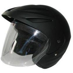 Kask motocyklowy MOTORQ Torq-o1 otwarty czarny mat (rozmiar XL)