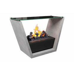 Zestaw kominkowy trision w kolorze betonu + stolik - ekstra dodatkowy rabat marki Dimplex - najlepsze ceny