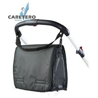 Torba do wózka z przewijakiem CARETERO dark graphite