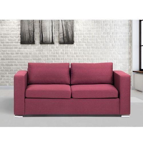 Sofa burgundowa - trzyosobowa - kanapa - sofa tapicerowana - HELSINKI - sprawdź w Beliani