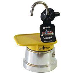 Kawiarka  mini 1 filiżanka - srebrno żółta marki Top moka