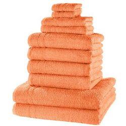 """Komplet ręczników """"new uni"""" (10 części) morelowy marki Bonprix"""
