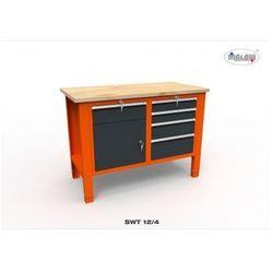 """Malow Stół narzędziowy swt 12/04 """"dwójka"""" do warsztatu blat drewniany"""