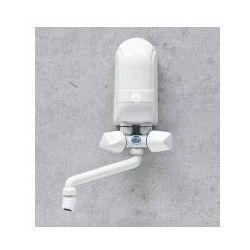 nadumywalkowy elektryczny przepływowy podgrzewacz wody ipx5 4,5kw z białą baterią, marki Dafi