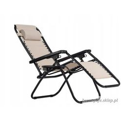 Goodhome Leżak fotel ogrodowy rozkładany
