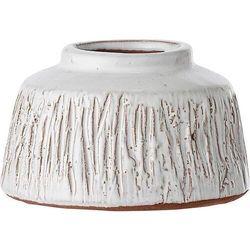 Bloomingville Wazon dekoracyjny 6,5 x 11 cm biały z terakoty (5711173189793)