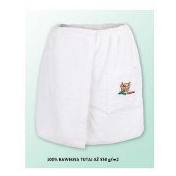 Sauna kilt ręcznik biały 100% bawełna męski 50*140 550 g/m2 z logo, Produkcja własna