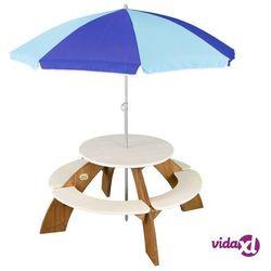 Axi dziecięcy stół piknikowy orion, brązowo-biały, a031.024.00 (8717973932376)