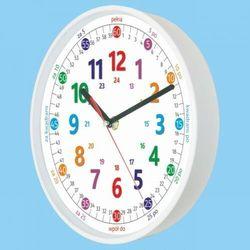 Zegar biały do nauki odczytu czasu PL