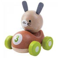 Drewniana wyścigówka królik z kategorii Zabawki drewniane