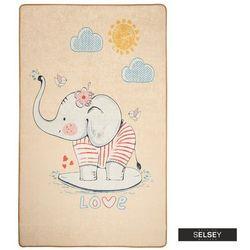Selsey dywan do pokoju dziecięcego dinkley ślicznotka beżowy 100x160 cm (5903025554822)