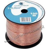 Przewód głośnikowy kabel CCA 2x0,35 mm 100m