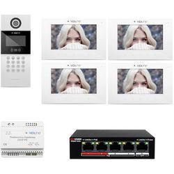 Wideodomofon IP 4-rodzinny VidiLine C5-IP, ZD11745